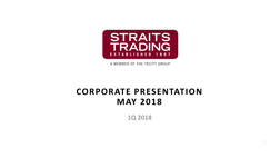 Corporate Presentation May 2018